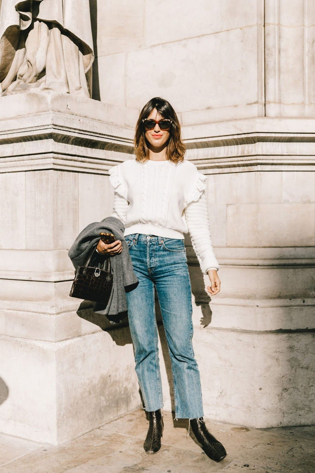The French-Girl Way to Wear a Ruffled Sweater