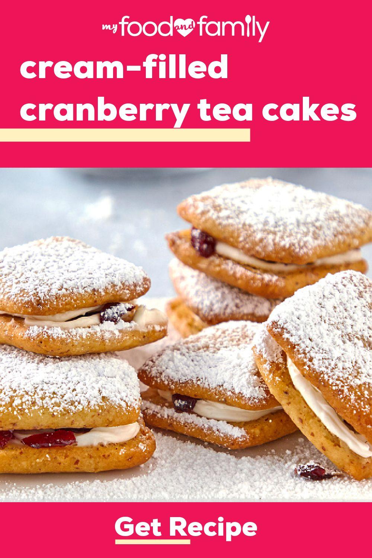 Cream-Filled Cranberry Tea Cakes