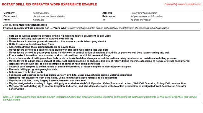 drill rig operator sample resume node2002-cvresumepaasprovider - Drill Rig Operator Sample Resume