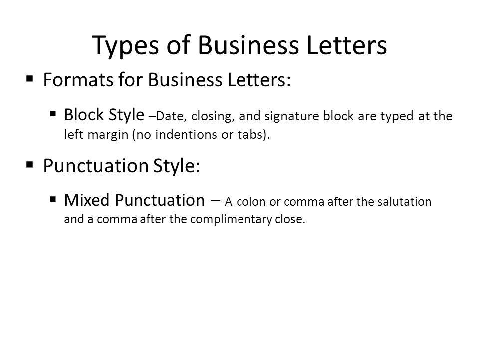 mla format business letters
