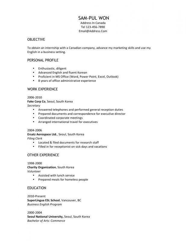 Canadian Resume Sample. Resume Canada Format. Canadian Resume