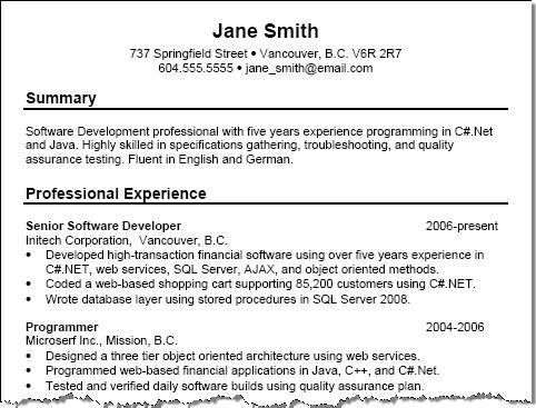 Examples Of Resume Title - Examples of Resumes