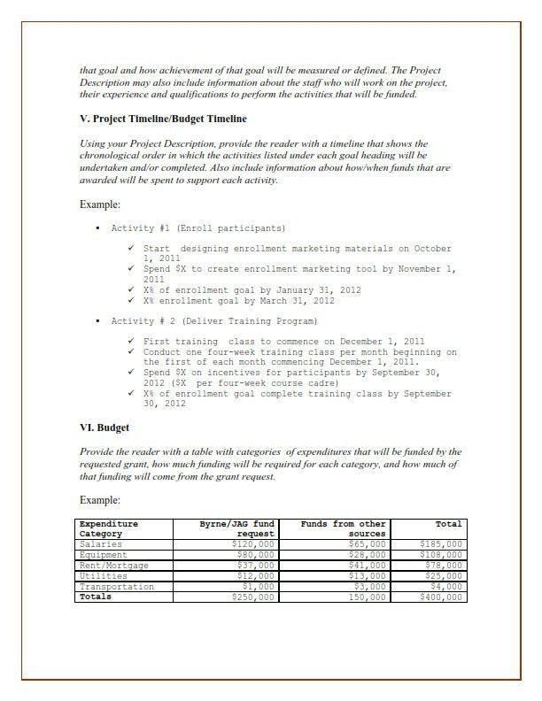 Free Job Proposal Template Sample Job Proposal Template 6 Free - funding proposal template