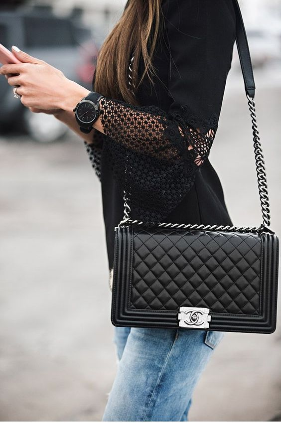 I like black Chanel bags