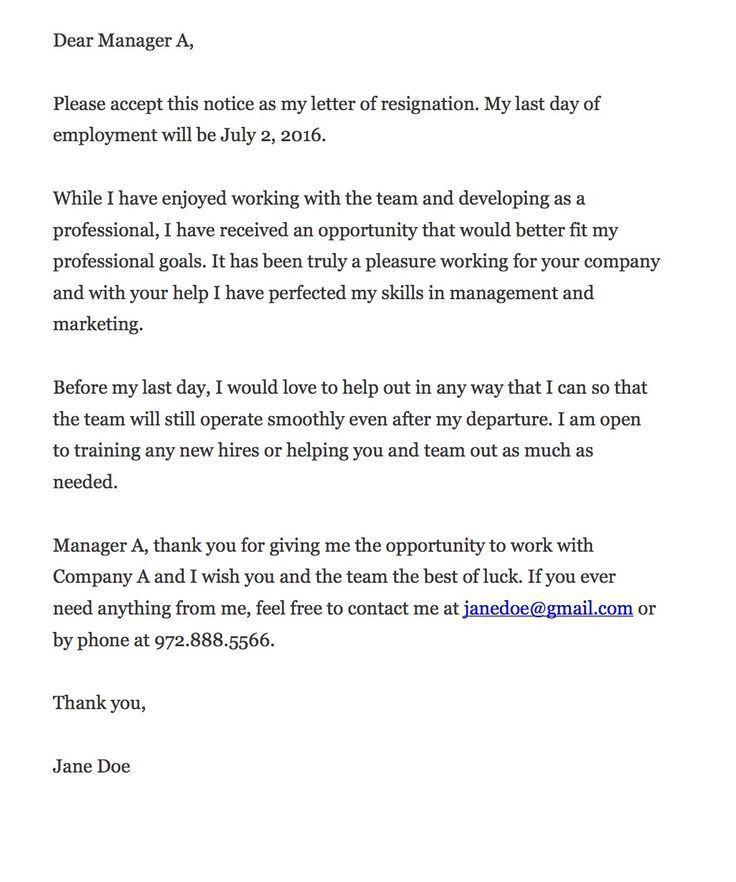 Template Letters Resignation] Sample Teacher Resignation Letter