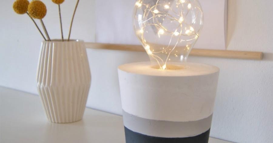 Cómo hacer una lámpara bombilla decorativa