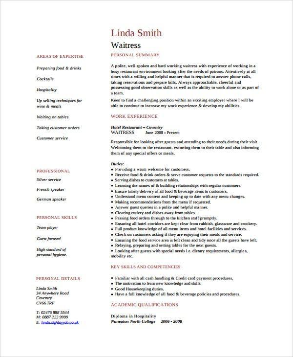 waitress resume examples016 node2004-resume-templatepaasprovider - waitress resume examples016