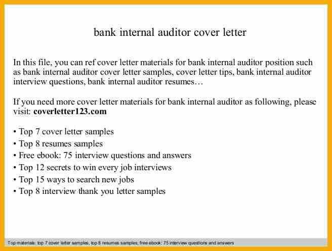 Internal Audit Cover Letter Internal Auditor Cover Letter Bank Internal  Audit Analyst Cover Letter