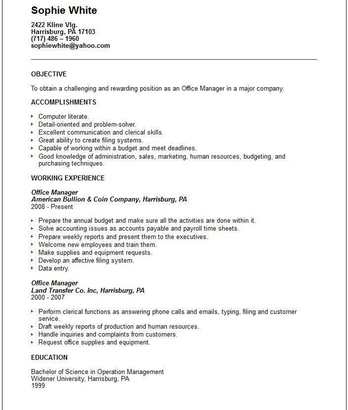Business Resume Objectives Resume Objectives 46 Free Sample - great objectives for a resume