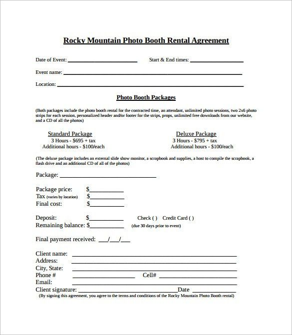 Simple Rental Contract Simple Rental Agreement 34 Examples In Pdf - booth rental agreement