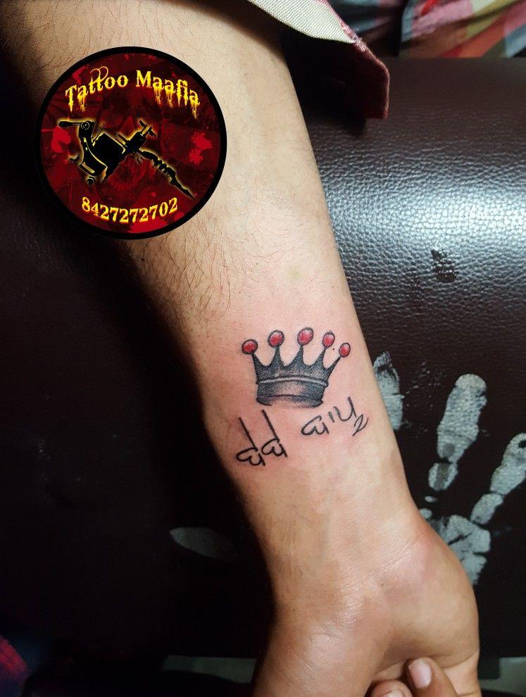 Bebe Bapu Crown Tattoos Finger Tattoos Daddy Tattoos
