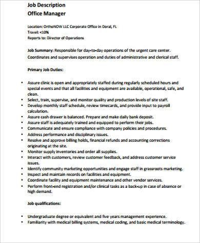 Catering Manager Job Description Catering Manager Cv Template - account management job description