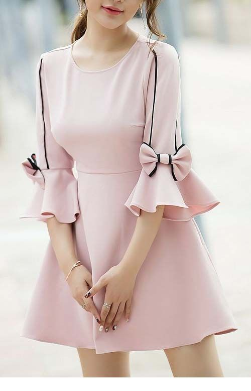 Cute pink dress with bows
