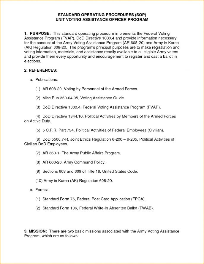 How To Write An Army Sop Template how to write an army sop - army memo