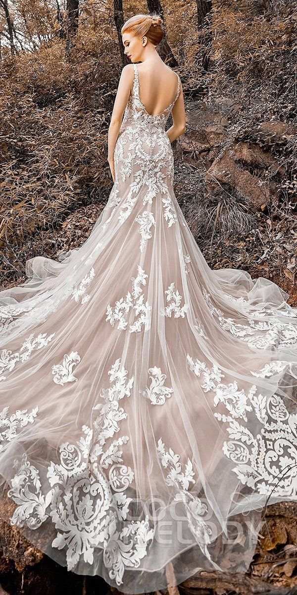 24 Stunning Cheap Wedding Dresses Under $1,000 ❤ cheap wedding dresses fit and flare v back lace train under 1000 cocomelody #weddingforward #wedding #bride