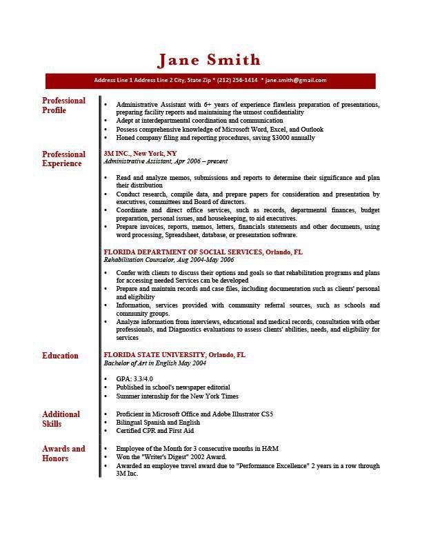Example Of Profile In Resume How To Write A Professional Profile