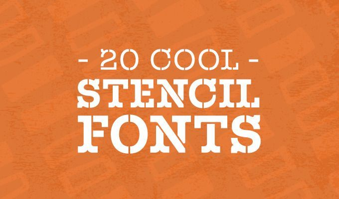 With the abundance of stencil fonts online, you simply have to choose the font that will best suit your design project and platform.