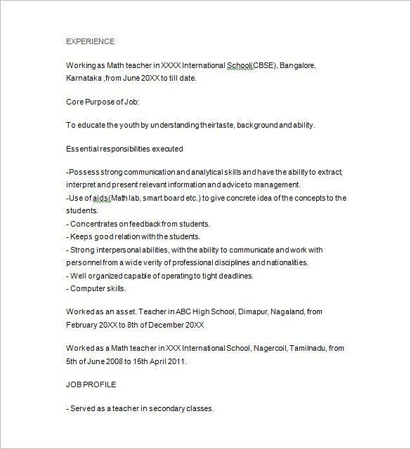 Math Tutor Resume Sample Math Tutor Resume Samples Visualcv - tutor resume