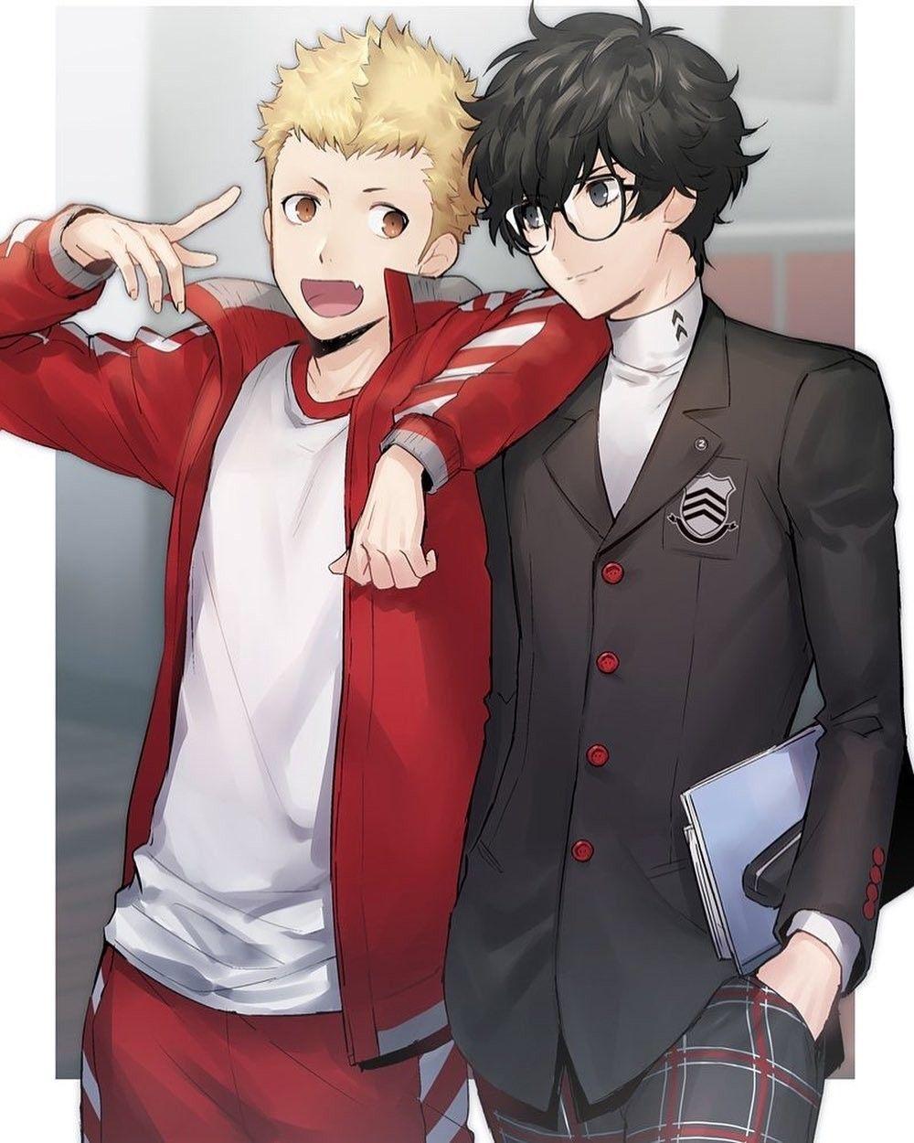 雨宮蓮、竜司 (With images) Persona 5, Akira kurusu, Persona
