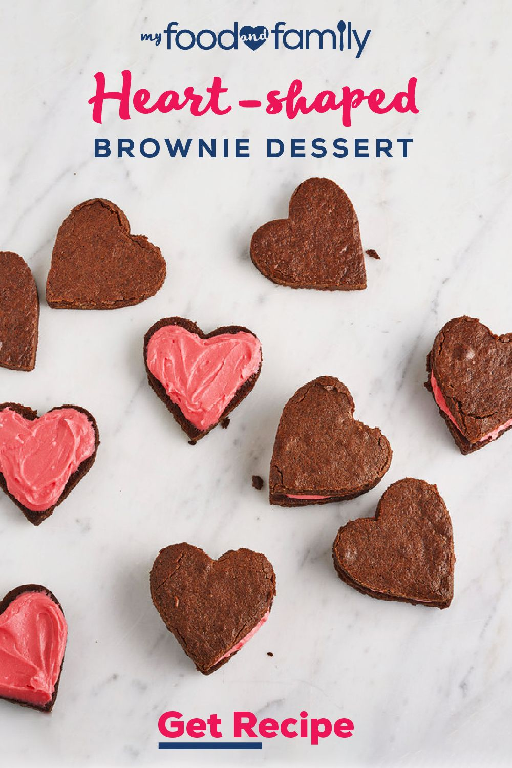Heart-Shaped Brownie Desserts