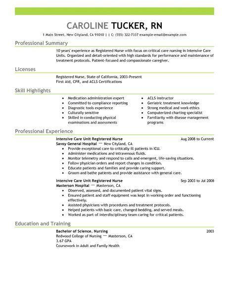 Nurse Resume Examples full size of resumenew new grad nurse - telemetry rn resume