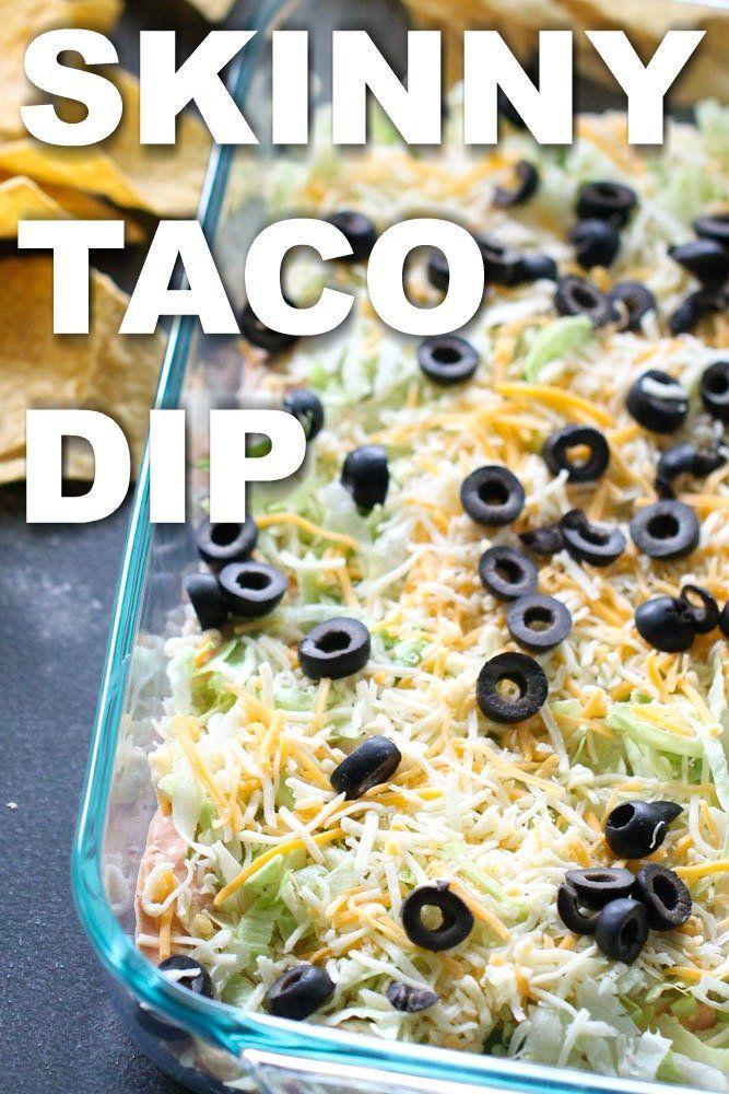 Skinny Taco Dip from SixSistersStuff.com