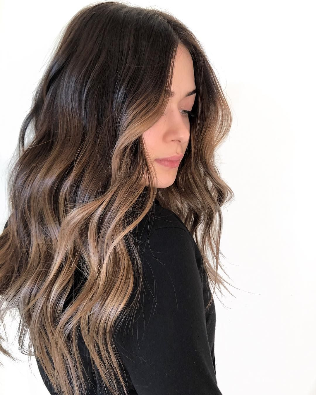 """⠀⠀ X O . F A R H A N A on Instagram: """"""""Make me darker but I'll probably want to lighten it up again in the summer"""" —> REVERSE BALAYAGE using my go-to @redken Shades EQ which…"""""""