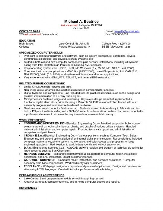 computer hardware repair sample resume cvresumeunicloudpl - Pc Repair Sample Resume