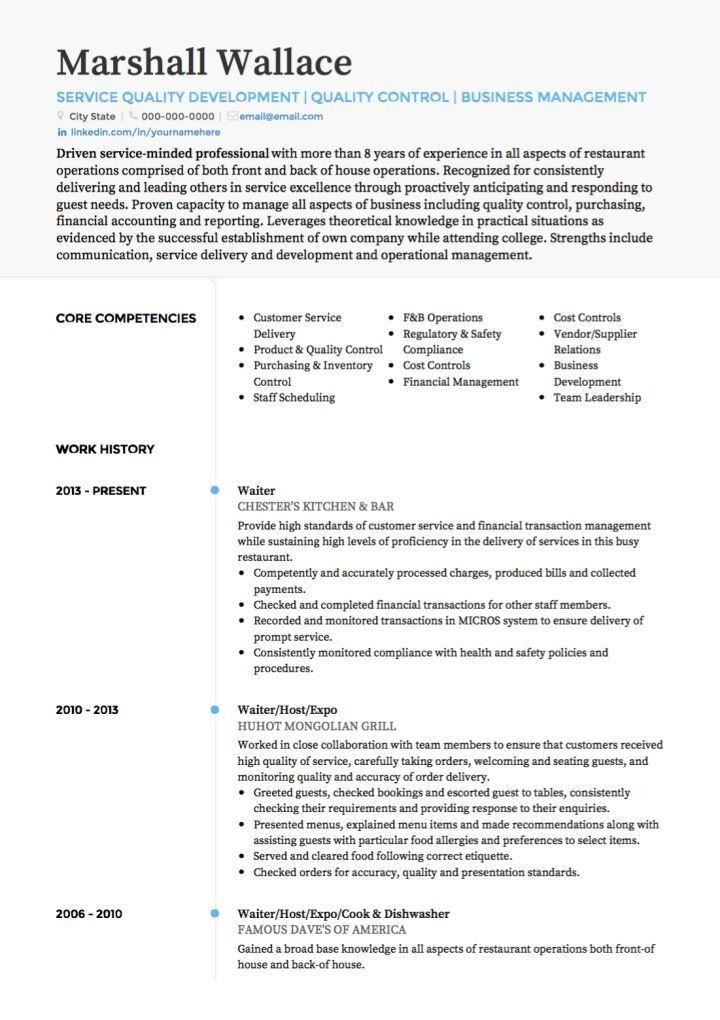 cocktail server resume sample env 1198748 resumecloud