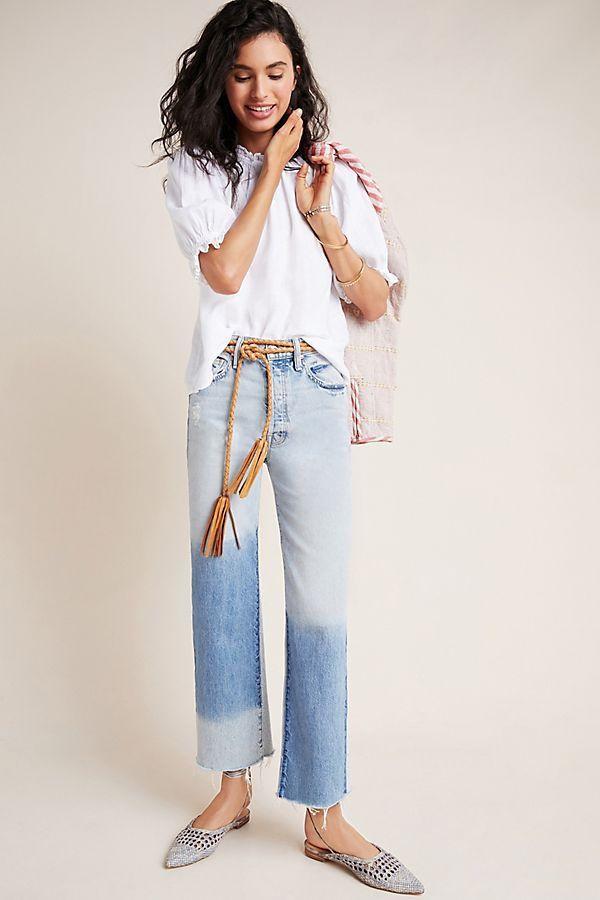 MOTHER The Rambler Ultra High-Rise Wide-Leg Jeans
