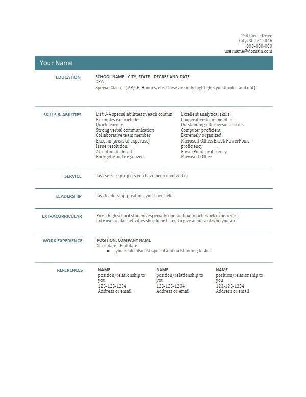 Google Doc Templates Resume Use Google Docs Resume Templates For - sports resume template