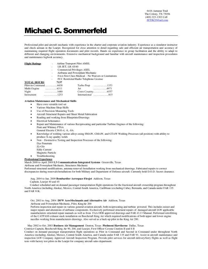 avionics technician resume sample resume sample - Avionics Technician Resume