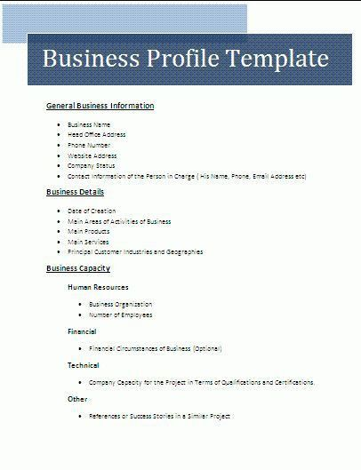Company Profile Templates Word Customizable Company Profile - business profile template