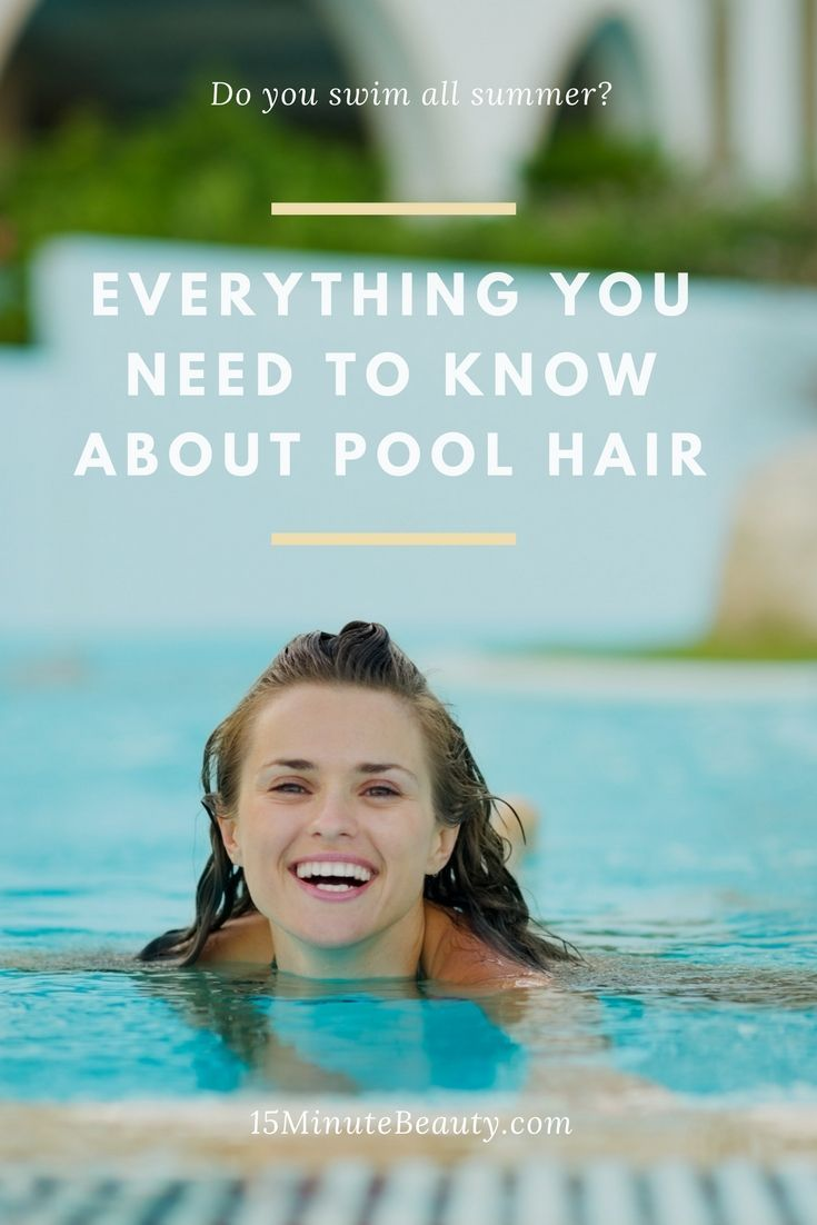 Do you spend a lot of time in the pool? Do you wonder why your hair turns green? Here's why that happens, how to get rid of the green and fix other pool hair problems!