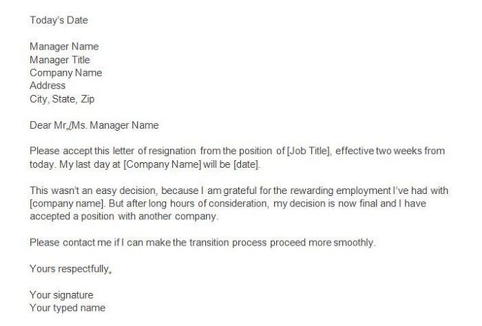 Two Weeks Notice Template 40 Two Weeks Notice Letters Resignation - final notice template