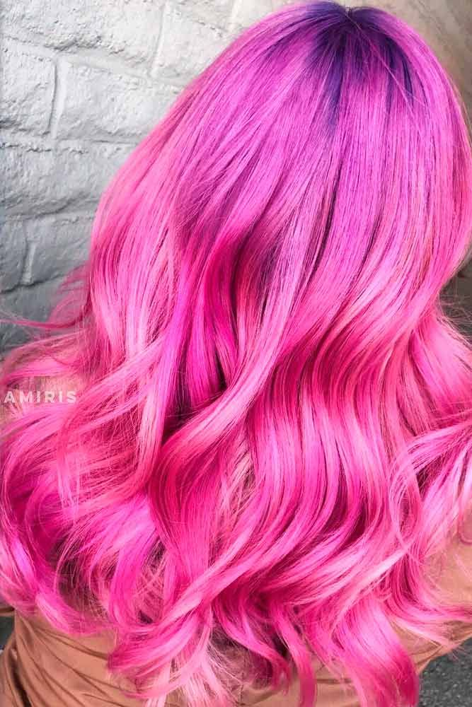 Bubblegum Pink #brighthaircolor #wavyhair ★ Pink hair color is full of surprises. Moreover, it can be different; as different as you want! Dive in to see the latest rose ideas. Besides hot bright highlights for long hair and pastel ombre for short locks, we've prepared a little product review for your successful DIY coloring! #glaminati #lifestyle #pinkhair