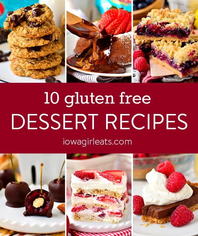 Whether you go out or stay home for dinner, finish the evening with one of these indulgent and delicious gluten free dessert recipes this Valentine's Day!  | iowagirleats.com #glutenfreedessertrecipes #valentinesdaydessertrecipes #dessertrecipes