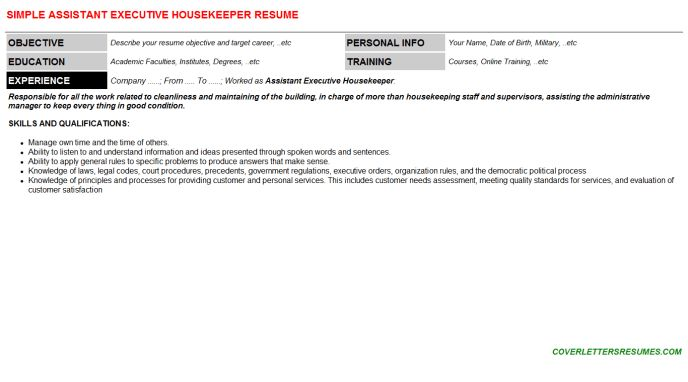Executive housekeeper cover letter sample livecareer - housekeeping cover letter