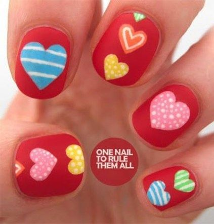 Newest Candy Heart Nail Art Ideas – Reny styles