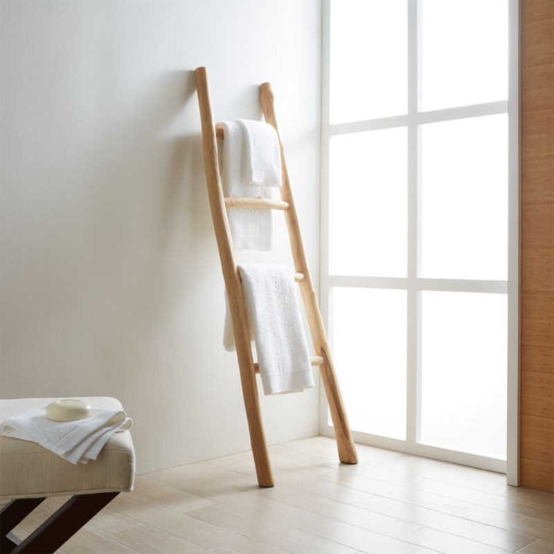 Shop Teak Ladder. Normally discarded, teak branches get a second chance as a beautiful ladder laden with lots of natural charm. Perfect for draping towels, linens or throws. Check out our .