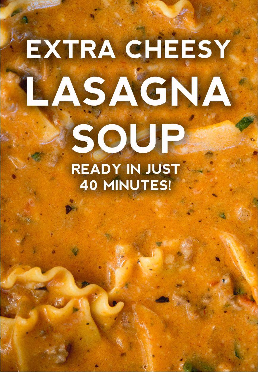 Extra Creamy Lasagna Soup