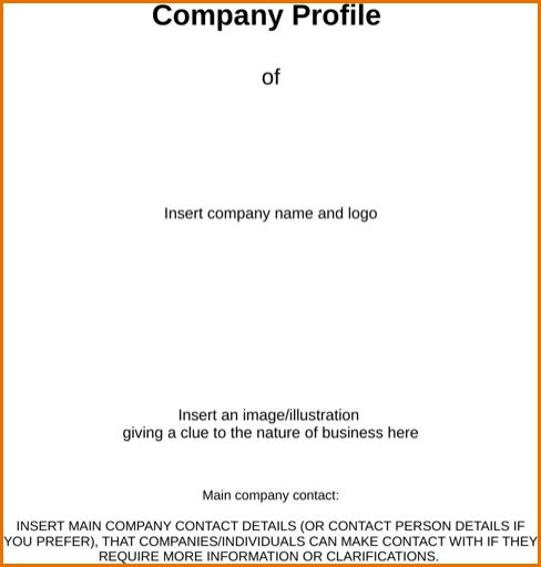 Business Profile Template Word Business Profile Template Free - business profile template