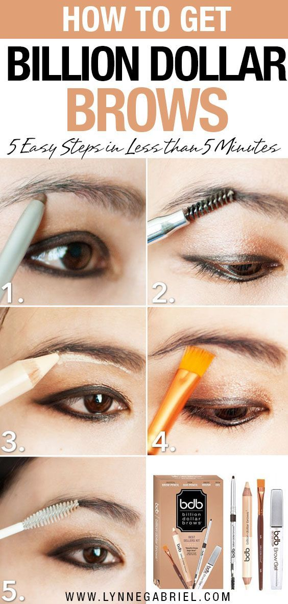Tired of your unruly eyebrows? The Billion Dollar Brows kit is the all-in-one solution for nicely done brows in less than 5 minutes. Get your brows done minutes before you have to leave the house! Check out this eyebrow tutorial. #beautytips #beautyadvice #beautytutorial #eyebrowstutorial