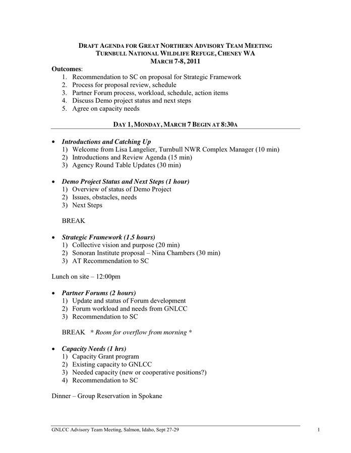 ... Agenda Formats   Matchboard   Meeting Program Sample ...  Agenda Formats