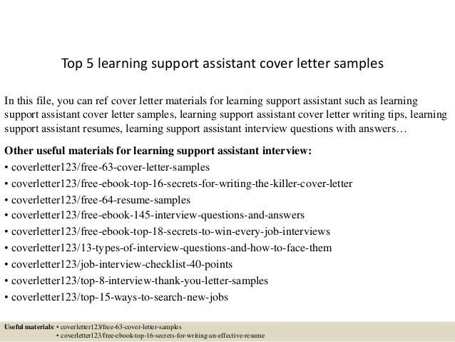 ... It Support Cover Letter Desktop Support Cover Letter Sample   Autism  Support Cover Letter ...