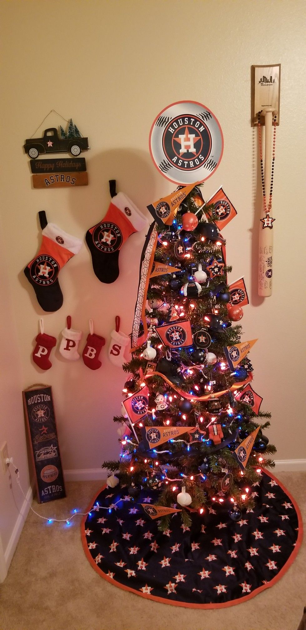 Houston Astros Christmas Tree | Christmas tree, Holiday ...