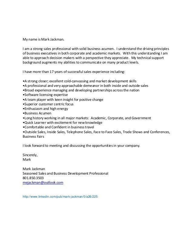 Cold Canvassing Cover Letter Sales Entry Levelcover Letter - cold contact cover letter