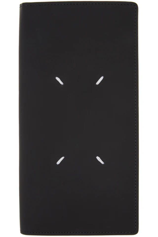 // Maison Margiela: Black Integrated Zip Pouch Bifold Wallet | SSENSE