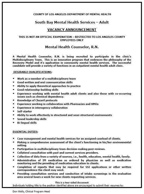 sample health nurse resume