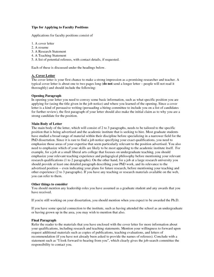 Cover Letter College Teaching Position Sample | Cover Letter